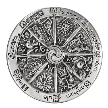 This large representation of the Pagan / Wiccan Sabbats is perfect for accenting outfits and pinning scarfs or sarongs.