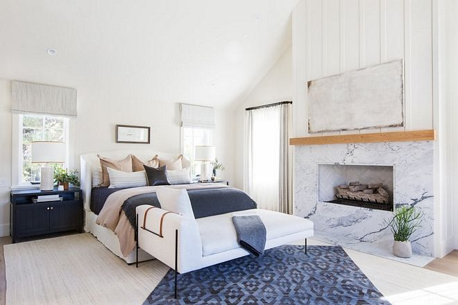 White And Navy Bedroom White Walls With Navy Blue Decor White And