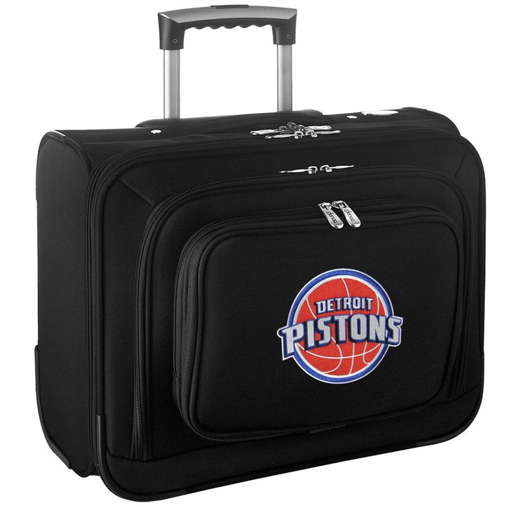 Detroit Pistons Carry-On Rolling Laptop Bag - Black