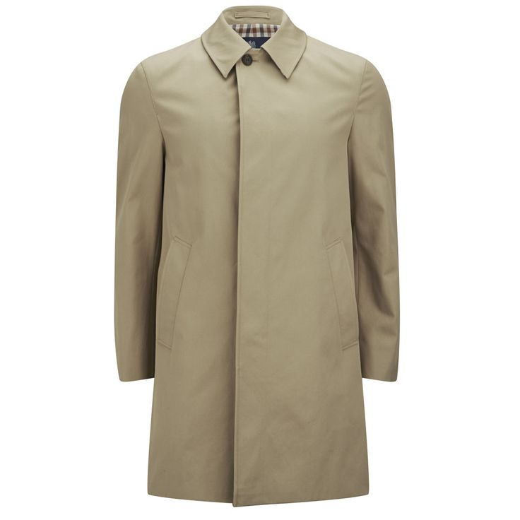 AQUASCUTUM MEN'S BROADGATE TRENCH COAT - CAMEL Achieving great acclaim with their involvement in the development of the trench coat, quintessentially British brand Aquascutum present the men's 'Broadgate' trench coat.