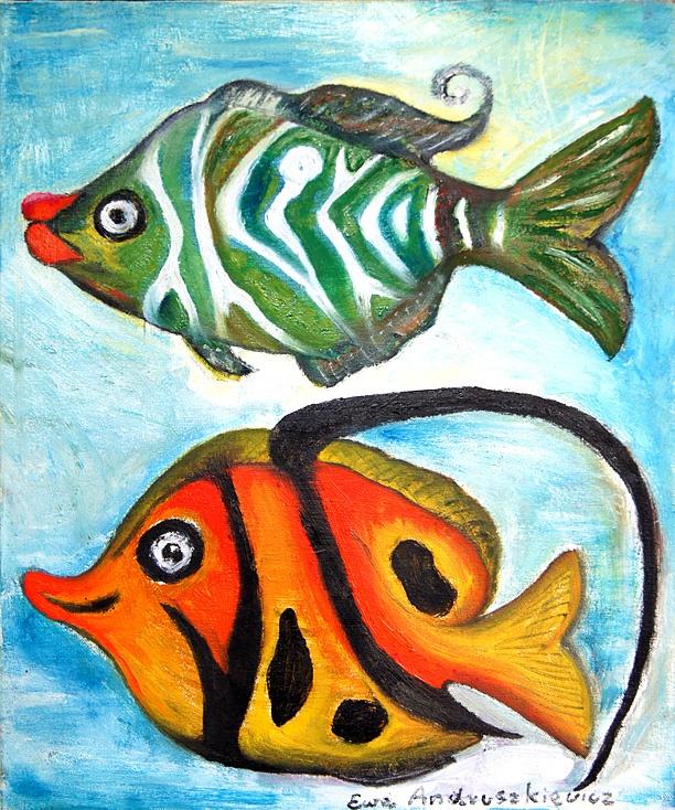 Two fishes by Eva Andruszkiewicz