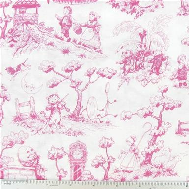 Nursery Rhyme Toile Fabric