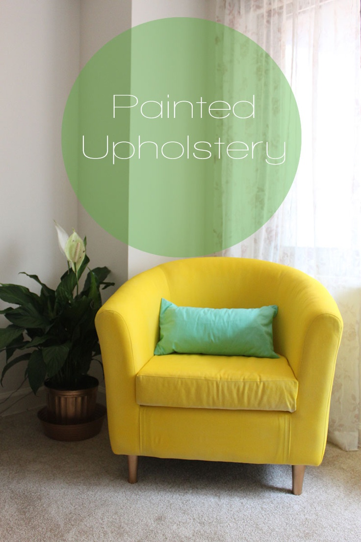 IKEA Hack Painted Upholstery Ill Do It Myself Paint Upholstery Ikea Hack Ikea Armchair