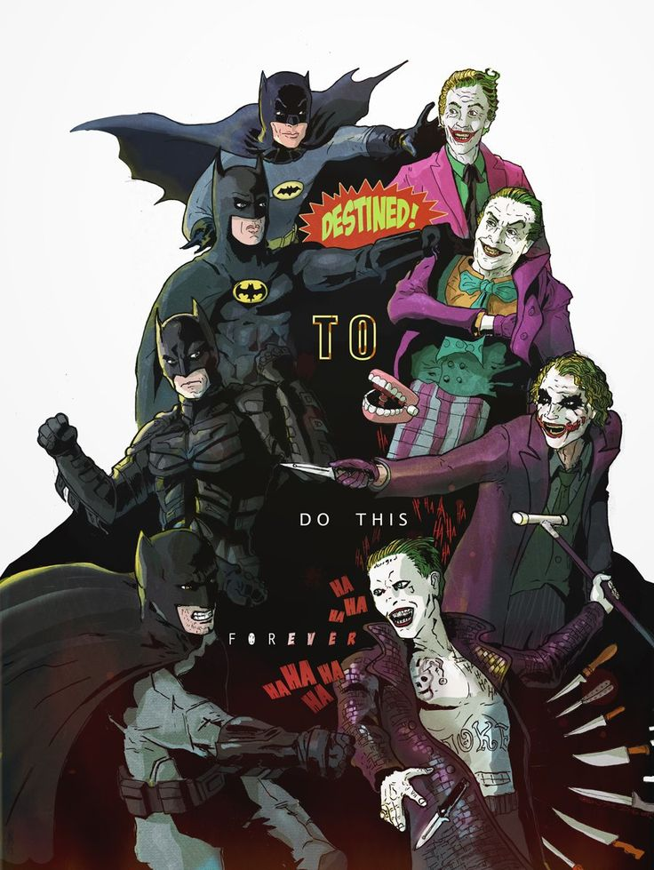 Really love how each take is so different Batman & Joker http://ift.tt/2cIawHy