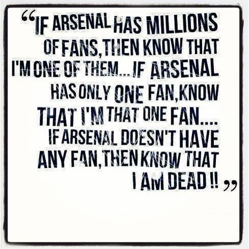 Arsenal till I die!!
