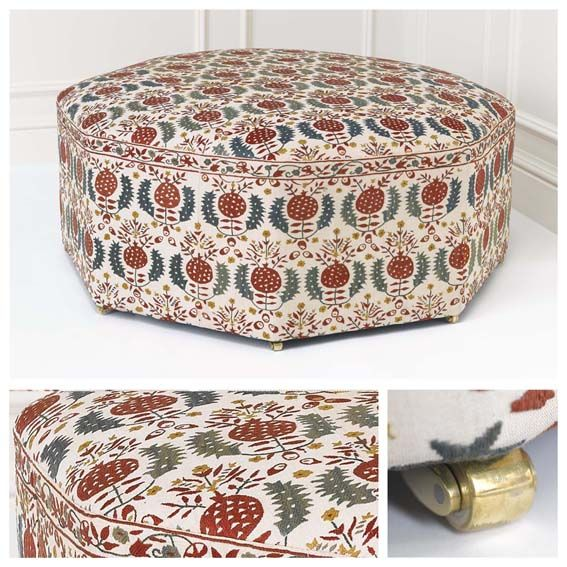 you can have this ottoman covered in any delish fabric you chose    see more at Robert Kime