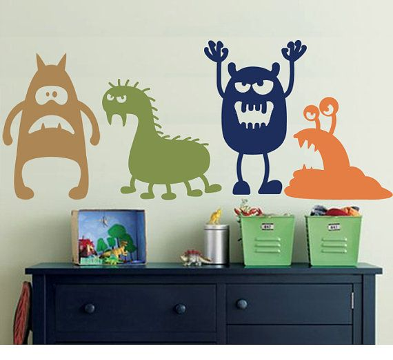 Wall decal monsters