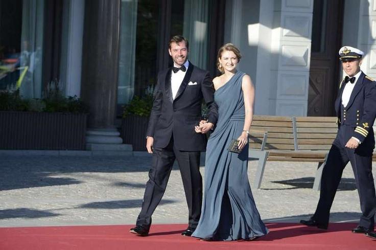 MYROYALS  FASHİON: Wedding Celebrations of Princess Madeleine and Chris O'Neill- Pre-Wedding Dinner-Hereditary Grand Duke Guillaume and Hereditary Grand Duchess Stephanie arrive