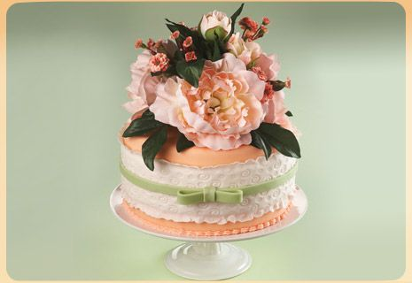 Flowers and Lace Cake