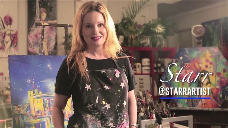 Starr Fine Art on painting, clients and hanging her art - YouTube