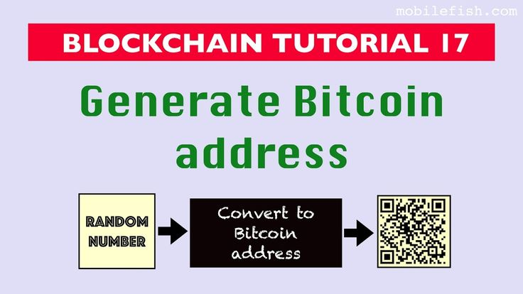 #Blockchain tutorial 17: Generate #Bitcoin address https://www.youtube.com/watch?v=wwAVR7NQ6Ks