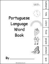 Portuguese Language Activities at EnchantedLearning.com