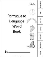 Portuguese Language Activities at EnchantedLearning.com