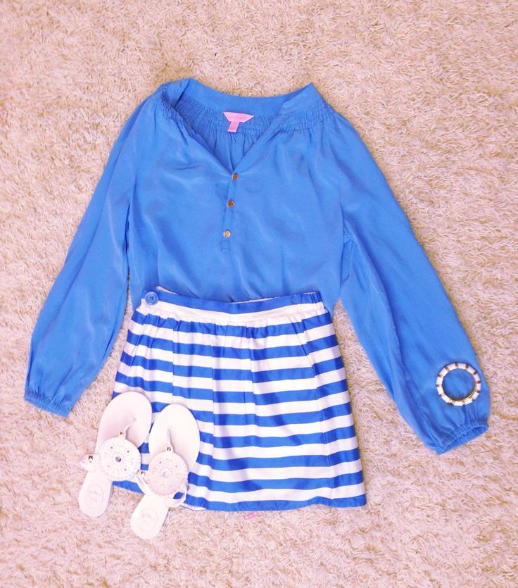 Outfit idea   Top- Lilly Pulitzer (Elsa) Skirt- Lilly Pulitzer Sandals- jack rogers Bracelet- Lilly Pulitzer