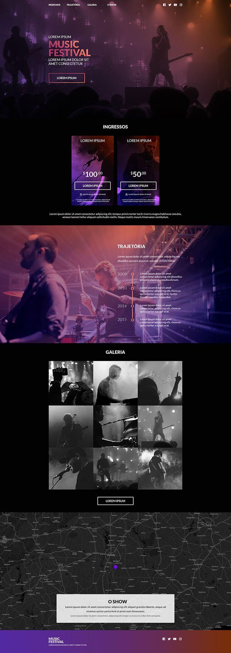 Free Music Festival Website Template Website Design Layout Webpage Design Wix Website Design
