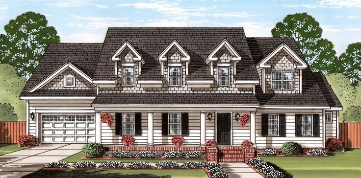The house of the month for february 2015 is an impressive for 2 story house plans with dormers