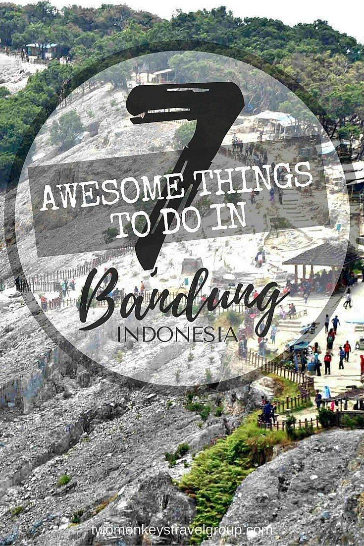 7 Awesome Things to do in Bandung, Indonesia Vast scenery of green plantations heading towards a surprise panorama of active volcanoes is where the heart of West Java of Indonesia can be found. The third largest city of Indonesia is Bandung. Common cold wind chill, just perfect for a stroll with a sight of green carpets of tea plantations from left to right.  It's an easy reach between the balance of calmness of nature and unpredictable fabled crater of volcanoes.