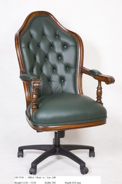 Office Chair with Gas Lift - Green http://www.countryinteriors.com.au/product/office-chair/