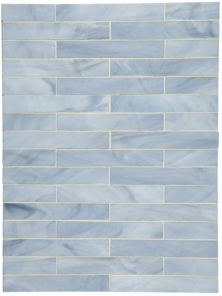 """Waterworks   Repose Staggered 1"""" x 6"""" Staggered Mosaic   Whisper Glossy"""
