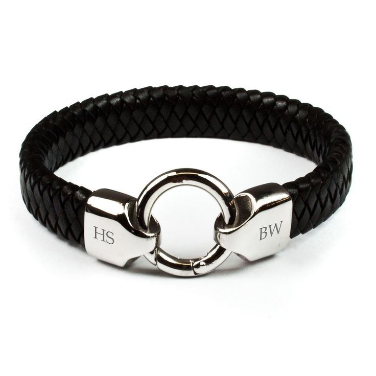 Personalised Men's Infinity Leather Bracelet