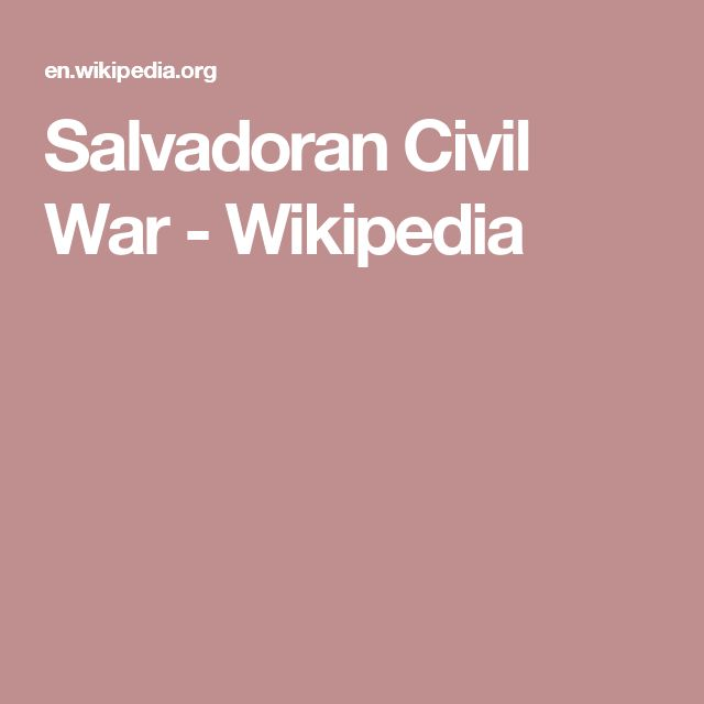 Salvadoran Civil War - Wikipedia