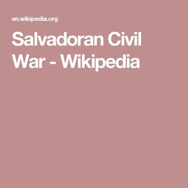 Salvadoran Civil War - Wikipedia