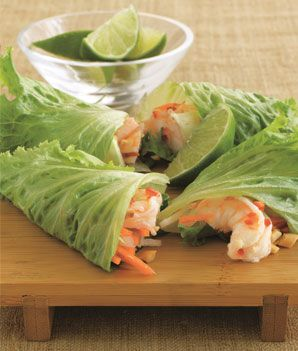 Low-Carb, Low-Calorie Shrimp Summer Rolls