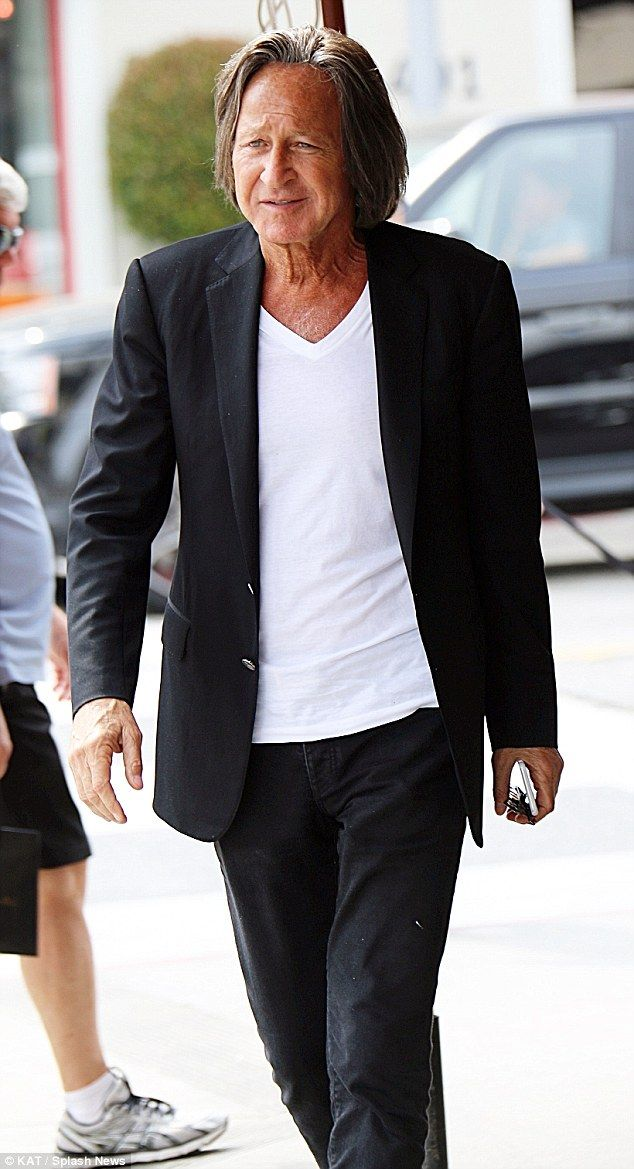 Family ties: Meanwhile, back on the west coast, Gigi's father Mohammed Hadid was seen after having lunch in Los Angeles