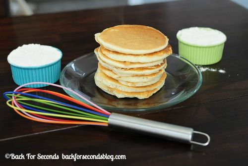 Easy Homemade Instant Pancake Mix @Beverly Kaine For Seconds #breakfast #pancakemix #recipe #freezermeal