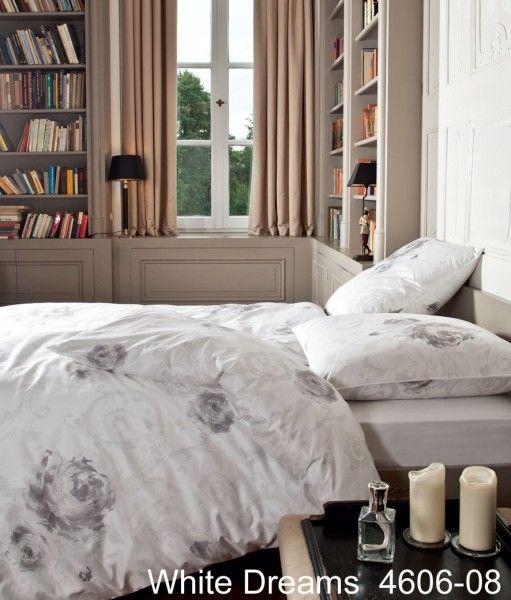 Janine Schweizer Satin-Bettwäsche White Dreams 4606 – edler Look für das Schlafzimmer