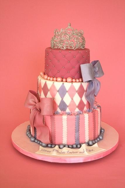 Princess Cake Design Pinterest : Princess Tiara Custom Birthday Cake NJ Kids Birthday ...