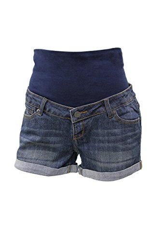 9months Womens Maternity Full Panel Denim Shorts >>> To view further for this item, visit the image link. Note: It's an affiliate link to Amazon.