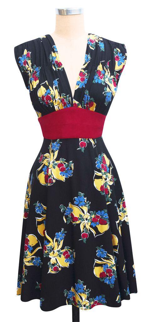 Trashy Diva 1940s Dress - Big Band Bows