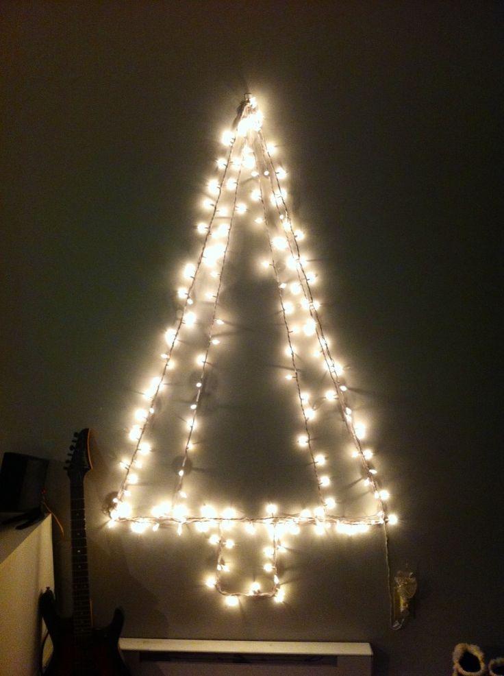 christmas tree made of lights - Christmas Tree Made Of Lights