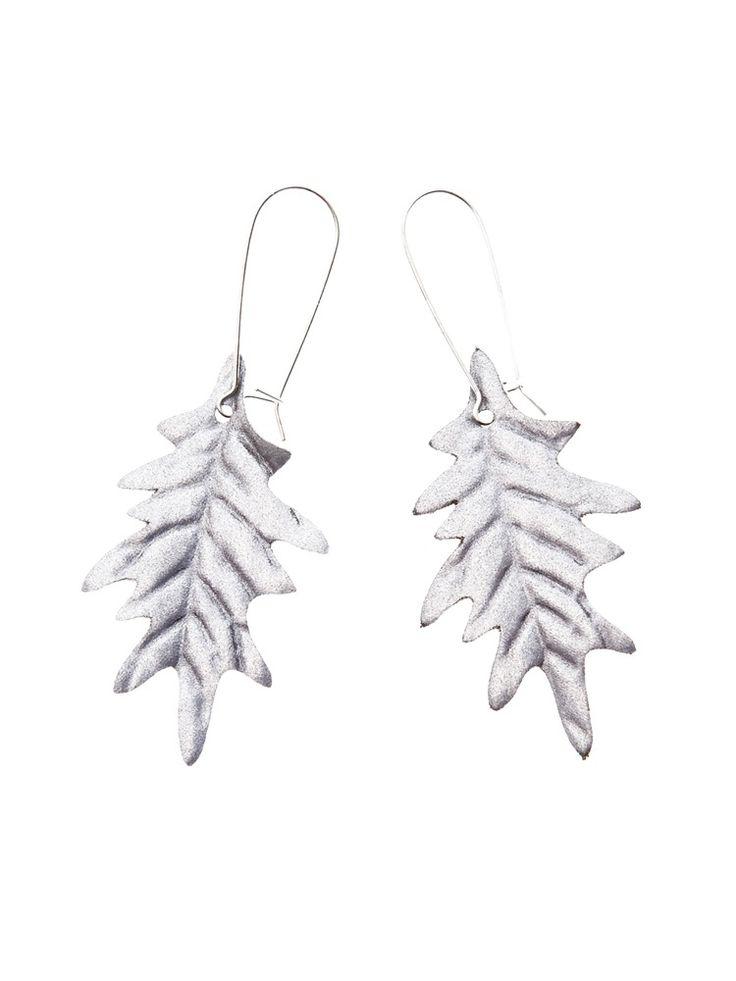 Image of OAK EARRINGS, Silver