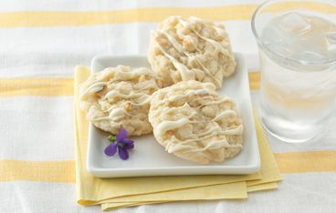 Biscuit macaron au chocolat blanc