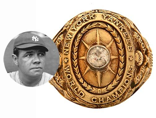 """Babe Ruth's 1927 World Series ring marking his record-breaking season playing for what is universally considered the best baseball team in history fetched $2.1 million at online auction site Lelands on Saturday. The auction house had described the ring, which was put up for bid by actor Charlie Sheen, as """"baseball's true holy grail."""" Full story here... http://nordjewelers.thejewelerblog.com"""