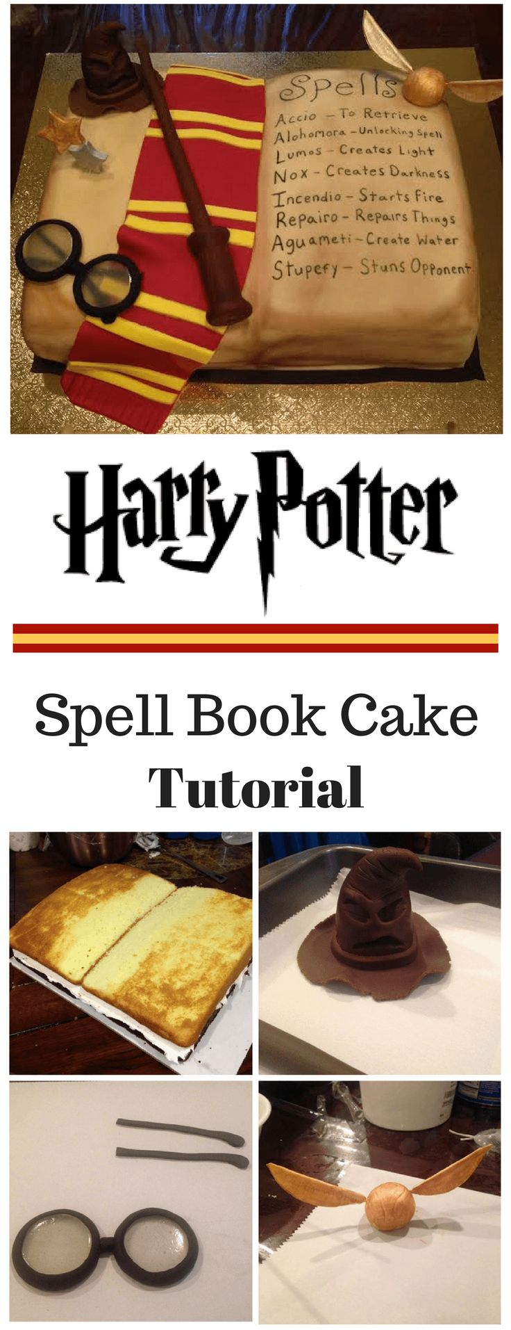 Harry Potter Inspired Spell Book Cake Tutorial