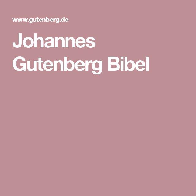 Johannes Gutenberg Bibel