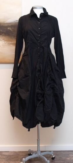 rundholz black label - Longbluse Kleid Wire black - Winter 2013