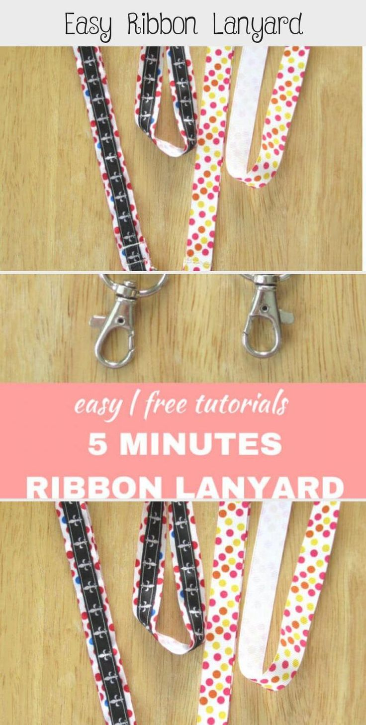 Easy ribbon lanyard easy to follow tutorials on how to