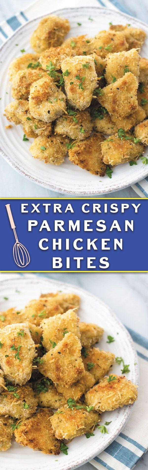 Crispy Baked Parmesan Chicken Bites