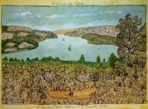 Ο κολπος της Γερας, Θεόφιλος Κεφαλάς - Χατζημιχαήλ   Καμβάς, αφίσα, κορνίζα, λαδοτυπία, πίνακες ζωγραφικής   Artivity.gr