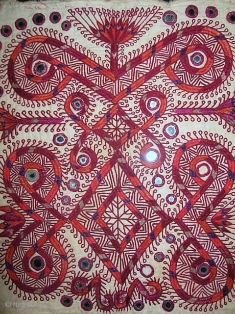 Indian silk embroidery possibly kutch or Gujrati (?). It dates possibly around 1920s. Or possibly it could be from Southern Afghanistan...