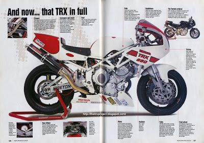 The TRX Project. The Yamaha TRX 850 blog: Racing Trixies