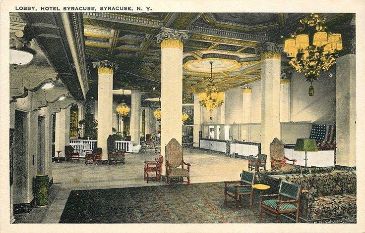 Hotel syracuse lobby 1920 interior design residential for 1920s hotel decor