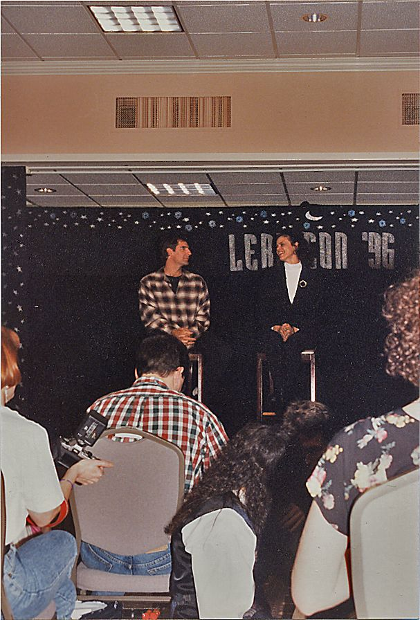 1996 QL con I attended - here with Deborah Pratt