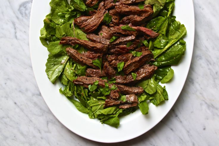 Mustard Marinated Flank Steak + Arugula Salad – The Defined Dish ((Whole30, Paleo, Summer Grilling))