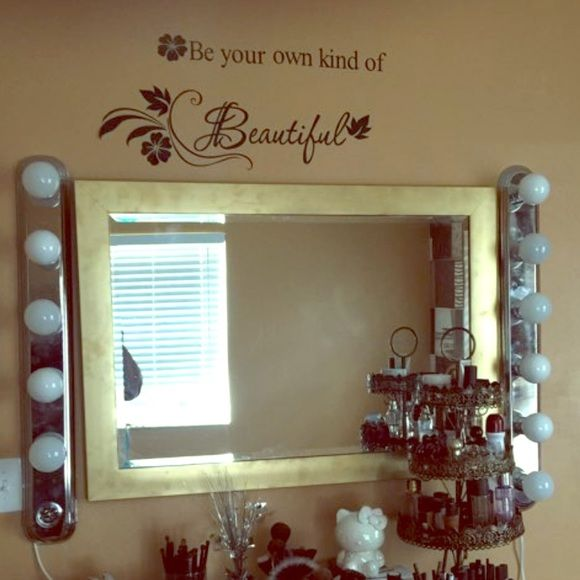Vanity light bars Vanity light bar can be customized to how many lights from 3 to 6 in one bar normally makes 6 lights in one bar PLUG IN MAC Cosmetics Makeup Brushes & Tools