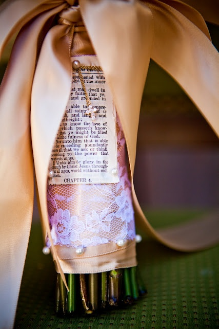 Blog about weddings, parties, and much more. Love this Bible quote on wedding bouquet.